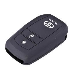 KMH Push Start Key Cover for Toyota Innova Crysta (Black)