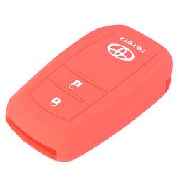 KMH Push Start Key Cover for Toyota Innova Crysta (Red)