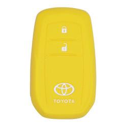 KMH Push Start Key Cover for Toyota Innova Crysta (Yellow)