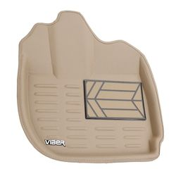 Viber 3D Leatherite Car Mats For Skoda Rapid (Beige)