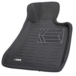 Viber 3D Leatherite Car Mats for Skoda Rapid (Black)