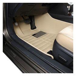 KMH 5D Mats for Maruti Suzuki Swift Beige (Set of 3pcs)