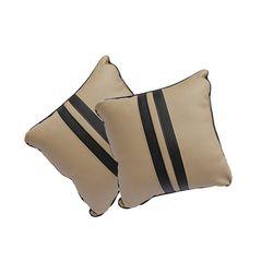 KMH Car Pillow Black/Beige(Set of 2pcs)