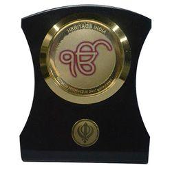 Heritage 24krt Gold Plates Idol for God EK OMKAR (ACF Frame)