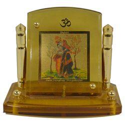 Diviniti 24krt Gold Plates Idol for God RADHA KRISHNA (CF Frame)
