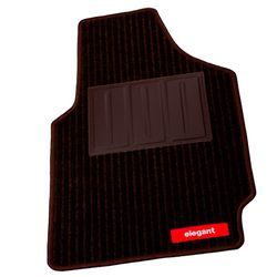 Elegant Carpet Mats Cord Brown For Mitsubishi Outlander (5 Pcs)