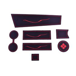 KMH Non Slip Mat For Renault Duster Set of 7 PCS (Red)