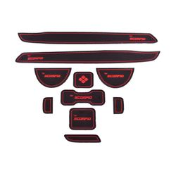 KMH Non Slip Mat For Mahindra Scorpio Set of 10 PCS (Red)