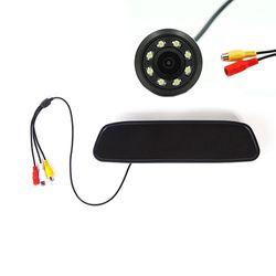 KMH Car Mirror Monitor Auto TFT LCD Color Parking Reverse For Rear View Camera Hot Backup Reverse Camera With Led Camera