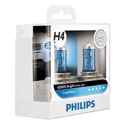 Philips Crystal Vision H4/55W Bulb (Set of 2 Pcs)