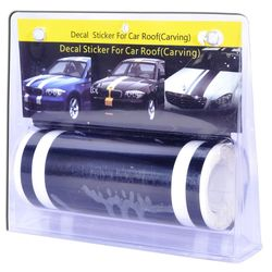 KMH Car Racing Stripes - Black with Three line RC00010