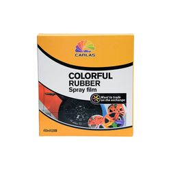 Carlas Removable Rubber Spray Set Paint Film Black (C4) 400Ml