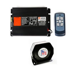 KMH Federal Signal (AS920) 200W wireless car siren Amplifier with 1 pcs slim speaker siren And wireless remote