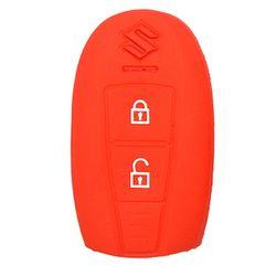 KMH Silicone Key Cover Fit for Maruti  Suzuki Ciaz Smart Key (Red)