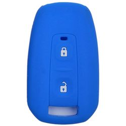KMH Silicone Key Cover for Tata Manza,2 Button Remote Key (Blue)