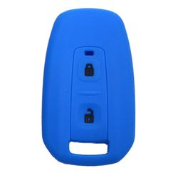 KMH Silicone Key Cover for Tata Manza,2 Button Remote Key (Blue with Black)