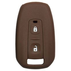KMH Silicone Key Cover for Tata Manza,2 Button Remote Key (Brown)
