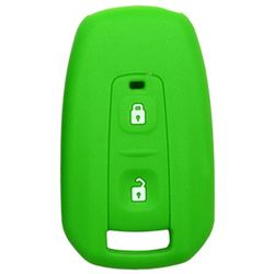 KMH Silicone Key Cover for Tata Manza,2 Button Remote Key (Green)