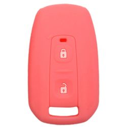 KMH Silicone Key Cover for Tata Indica Vista,2 Button Remote Key (Light Pink)