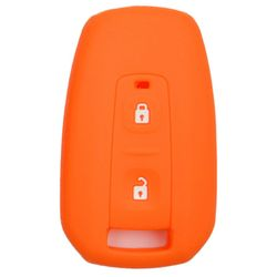 KMH Silicone Key Cover for Tata Indica Vista,2 Button Remote Key (Orange)