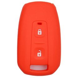 KMH Silicone Key Cover for Tata Manza,2 Button Remote Key (Red)