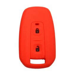 KMH Silicone Key Cover for Tata Indica Vista,2 Button Remote Key (Red with Black)