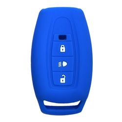 KMH Silicone Key Cover for Tata Safari Storme,3 Button Remote Key (Blue)