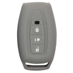 KMH Silicone Key Cover for Tata Safari Storme,3 Button Remote Key (Grey)