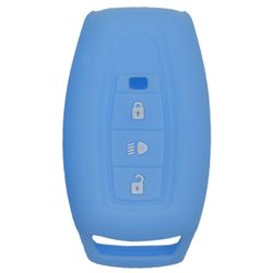 KMH Silicone Key Cover for Tata Aria 3 Button Remote Key (Sky Blue)