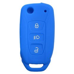 KMH Silicone Key Cover Fit for Tata Bolt Flip Key (Blue)