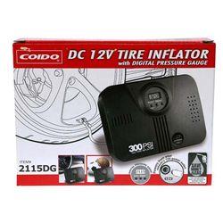 COIDO 2115DG DC 12V Tire Inflator With Digital Pressure Gauge