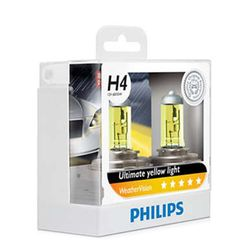 Philips Weather Vision H4 Bulb 12V 60/55W (Ultimate Yellow Light)