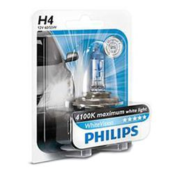 Philips H4 White Vision 12V 60/55W 4300K (1 Pcs)