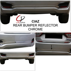 KMH Rear Bumper Reflector Cover for Ciaz (Set of 2 Pcs) (Chrome)