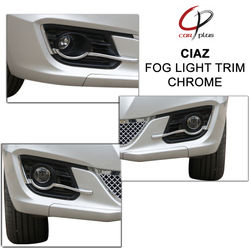 KMH Fog Light Trim for Ciaz (Set of 2 Pcs) (Chrome)