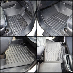 KMH Leatherite 5D Mats for Toyota fortuner 2016 (Black) (AT)