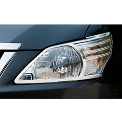 KMH Head Light Cover for Innova 2015 (Set of 2 Pcs) (Chrome)