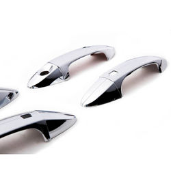 KMH Handle Cover Oem for Ecosports (Set of 8 Pcs) (Chrome)
