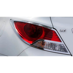 KMH Tail Light Cover for Verna Fluidic (Set of 2 Pcs) (Chrome)