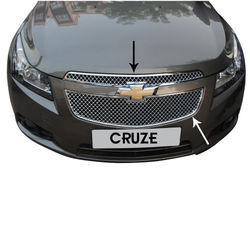 KMH Front Grill Bentley Design for Cruze (Set of 2 Pcs) (Chrome)