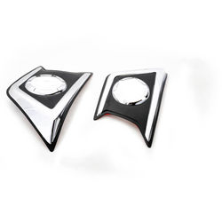 KMH Fog Light Cover Fitt Design for Pajero Sport (Set of 2 Pcs) (Chrome)