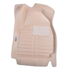 KMH Leatherite 5D Mats for Honda Jazz (Beige)