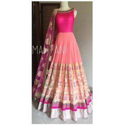 Salwar.uk Designer Pink Anarkali Salwar Kameez PK107