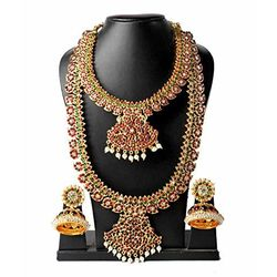 Mango Gold Plated Necklace Earring Set For Women