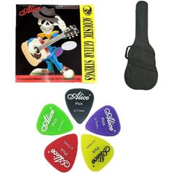 SG Musical Guitar Case and Alice Guitar Strings & 5 Alice Picks