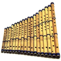 SG Musical Set of 18 Pcs  Bansuri - Indian Bamboo Flute Set
