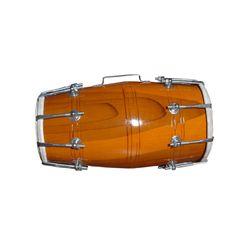 HANDMADE WOOD DHOLAK INDIAN FOLK MUSICAL INSTRUMENT DRUM NUTS N BOLT