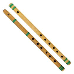 SG Musical Indian Bamboo Flute Bansuri, Set of 2, Fipple & Transverse, For Kids