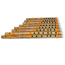 SG Musical 8 PC Bansuri Set,  Bamboo Indian Fipple Flutes