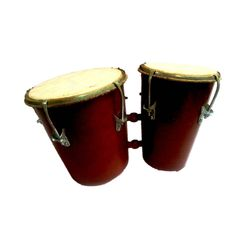 SG Musical  Bongo Drum Red With Central Tuning Key